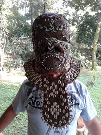 Traveler's Rest Hotel : One of the many Congo masks for sale