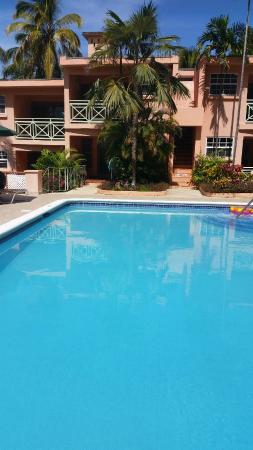 Travellers Palm: Pool and apartments