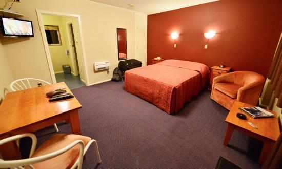 Parklands Motor Lodge Timaru: Sauberes Zimmer mit üblicher Größe