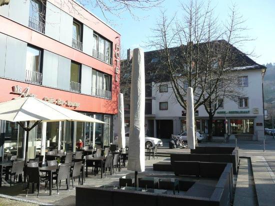 Vorne das designhotel hinten das g stehaus stadtgarten for Designhotel freiburg