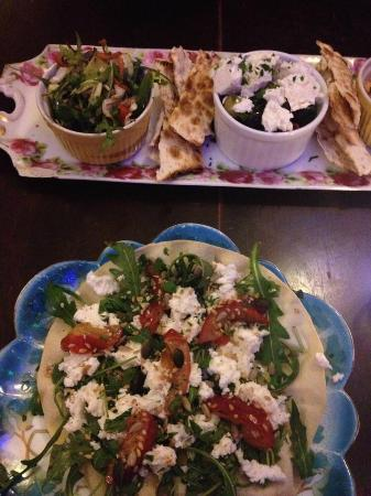 The Coven: Starters (mezze and tostada)