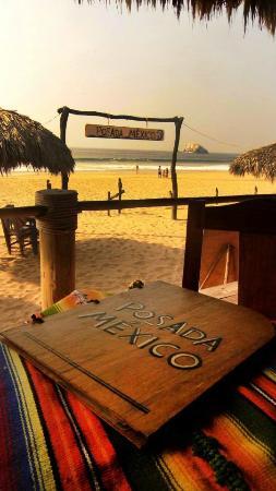 Posada Mexico: Vista de la Playa desde el Restaurante