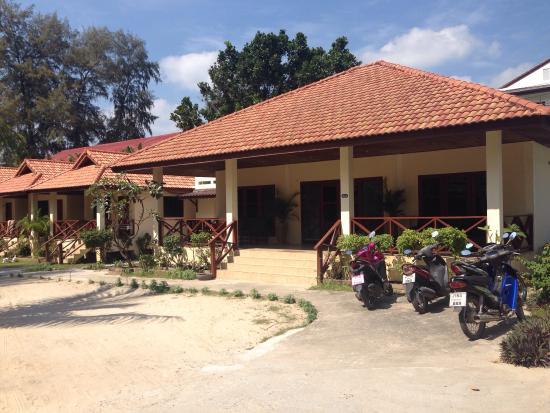 Coconut Garden: Familjehuset med tre sovrum där vi bodde fyra nätter.