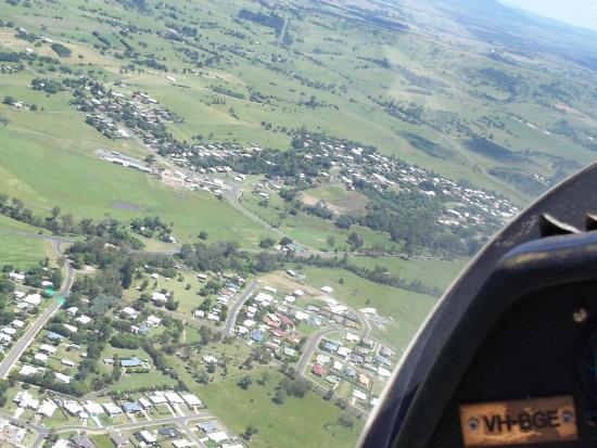 Boonah Gliding Club: boonah from the sky