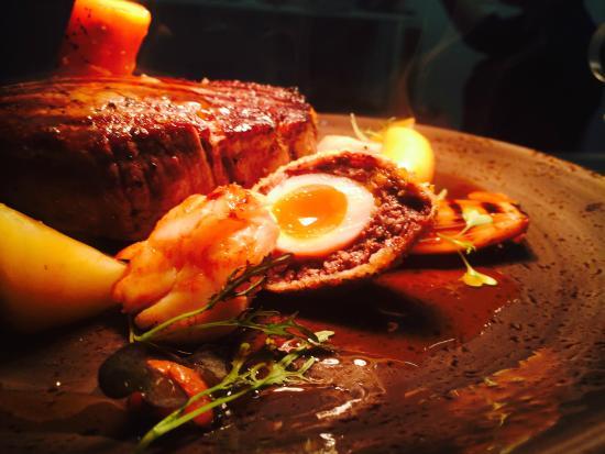 Brasserie 1763: scottish fillet local quaill eggs