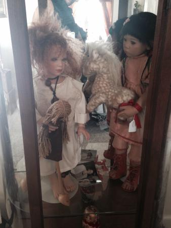 Valarie Moyer's Dolls: Artist Dolls on display
