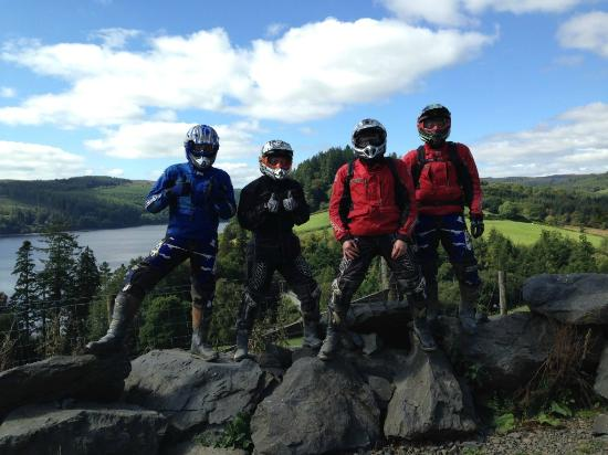 Welshpool, UK: Trail Riders enjoying North Wales