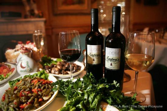 Andrea's Restaurant: Chef Andrea homemade wine from Capri, Italy
