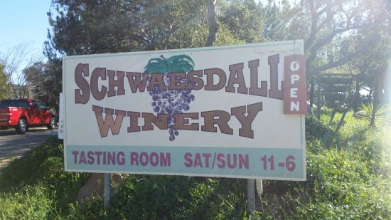 Ramona, Californie : Schwaesdall Winery Sign