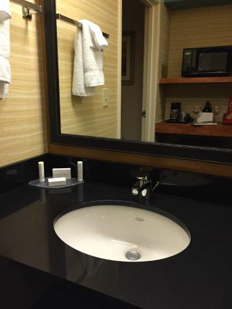 Fairfield Inn & Suites Traverse City: New sink counter and mirror