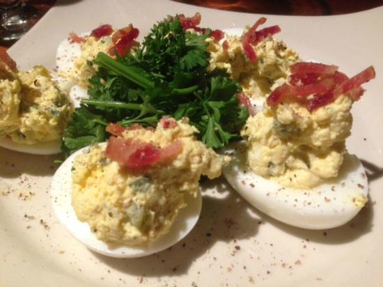 Deviled eggs w real bacon bits picture of j alexander 39 s for Alexander s greek cuisine