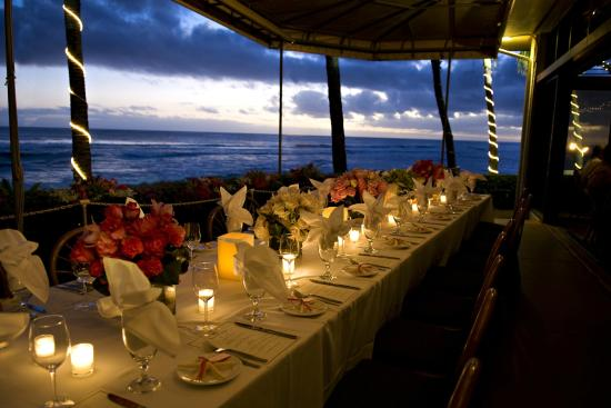 Beach House Restaurant A beautiful table setting overlooking the ocean for dinner service here at & A beautiful table setting overlooking the ocean for dinner service ...