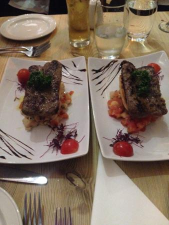 Rustico Bistro: Wild boar sausages with canellini beans and grilled bread