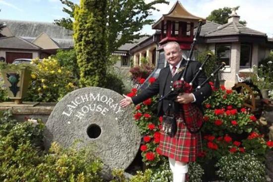 Guvnor piping at Laichmoray Hotel Elgin