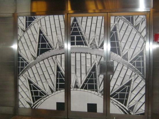 Chrysler building lobby ceiling mural picture of for Chrysler building mural