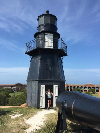 Dry Tortugas National Park: lighthouse on top of the fort