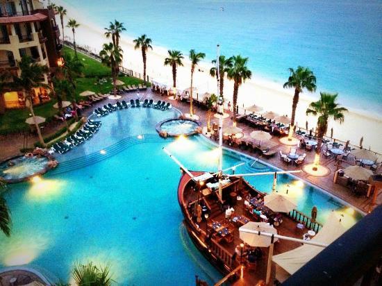Villa Del Arco Beach Resort Spa Cabo San Lucas Balcony View Of Pirate Ship