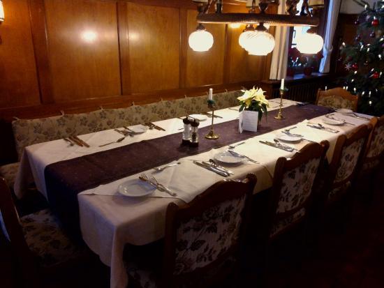 Sporthotel Sonnhalde: Notre belle table lors de notre séjour en 2013 !