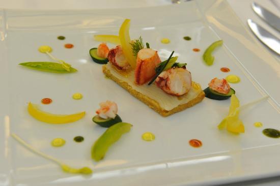Entr e gastronomique gambas photo de la charpini re for Entree gastronomique