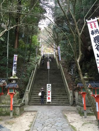 Tanukidani Fudoin : 長い石段
