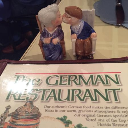 The German Restaurant: Cute salt and pepper shakers on our table