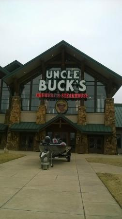 Uncle Buck's Brewery and Steakhouse: The front of the restaurant