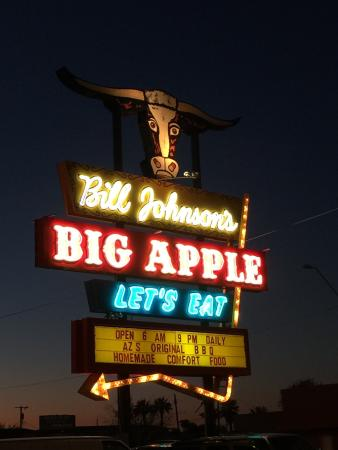 Bill Johnson's Big Apple: Restaurant Sign