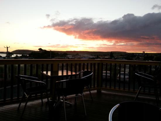 Stanley Hotel: Sunset from the back dining deck