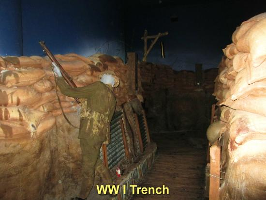 Canadian War Museum: WW I trenches