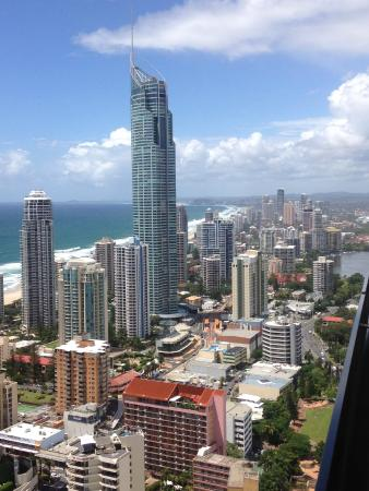 Mantra Circle on Cavill Surfers Paradise: View from level 43 North Tower
