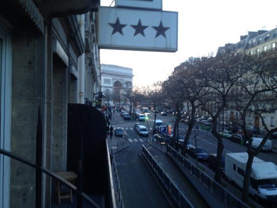 Hotel Stella Etoile : Vue du balcon de la chambre