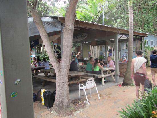 Surf Camp Australia: area in between cabins