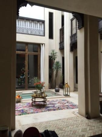 Riad Vanilla sma: From one of the sitting areas