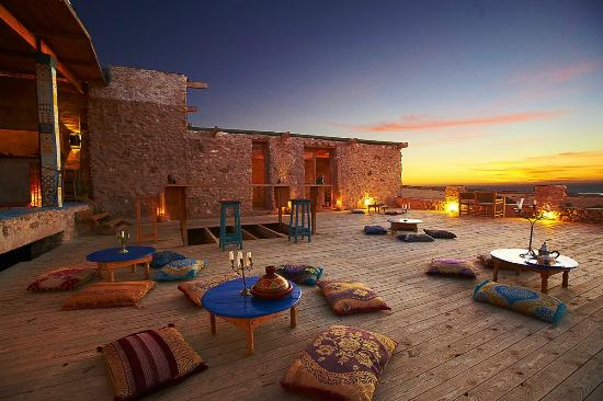 Tafedna, Marrocos: The terrace at sunset
