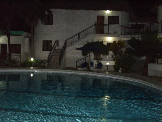 PrideInn Express Nyali : beautiful photo of the pool at night