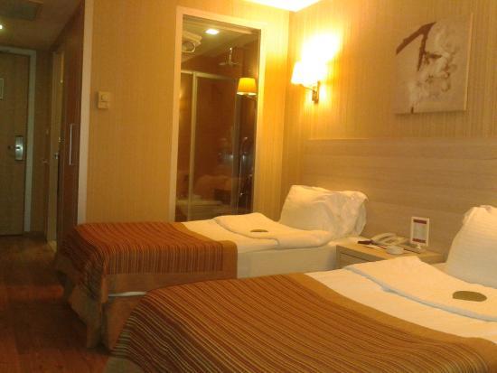 Ramada Ankara: Room with view of Transparent bath room window