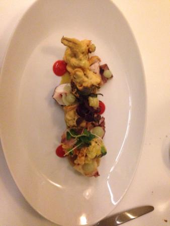Wein am Rhein: Starter: Octopus and brocoli tempura