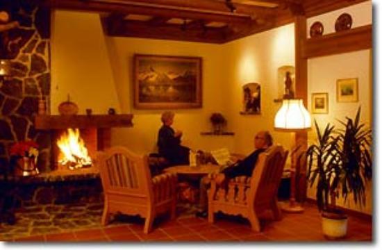 Hotel Alte Post: Aufenthaltsraum mit Cheminee
