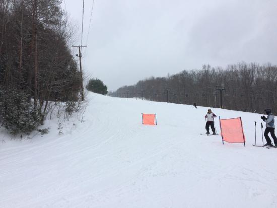 Berkshire East Ski Resort: Hanging out near Exhibition Run!