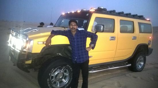 with yellow hummer - Picture of The Yellow Safari, Abu Dhabi ...