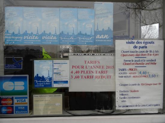Musee des Egouts de Paris: Les égouts de Paris - Tarifs & Horaires d'ouverture