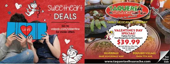 Taqueria El Huarache: Valentines Dinner