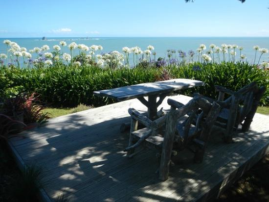 Steeples Cottage, Studio and B & B: The ocean view over the cliff - spectacular!