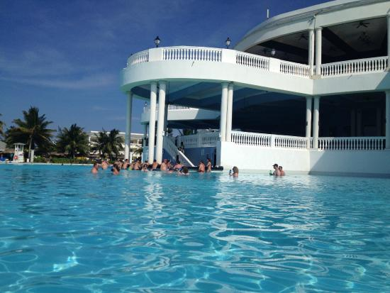 View Of Swim Up Bar Blue Lagoon Buffet 2nd Floor And
