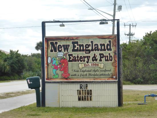 New England Eatery & Pub: Signage by S. A1A