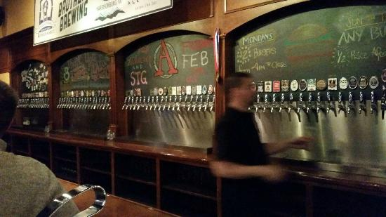 Capital Ale House: Beer on tap