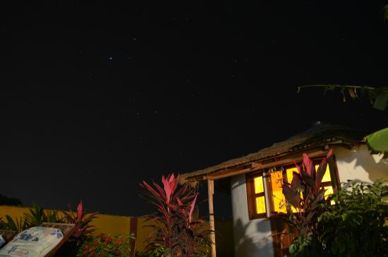Mango Lodge: good star gazing by the roundhouse