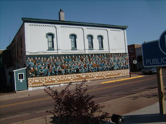Budget Host Cloverland Motel Miner S Mural Building Downtown Ironwood Michigan