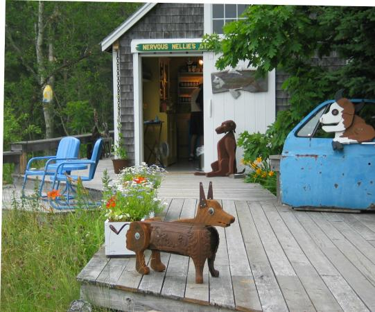 Deer Isle, ME: Nellie deck and shop