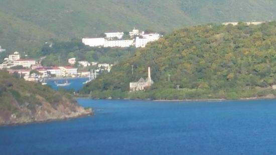 Historic Hassel Island Kayak, Hike & Snorkel: View Looking towards the Island, and the Ship Repair Bld.